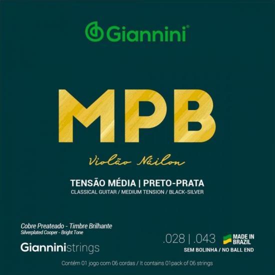 Encordoamento para Violão Nylon Médio GENWBS Série MPB GIANNINI (15092)