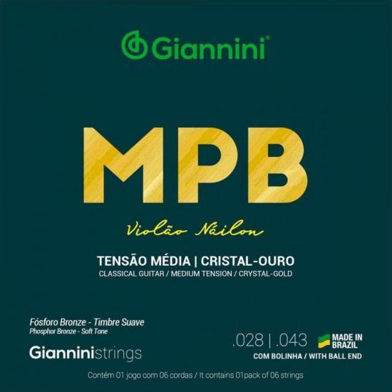 Encordoamento para Violão Nylon com Bolinha Média GENWG Série MPB (15093)