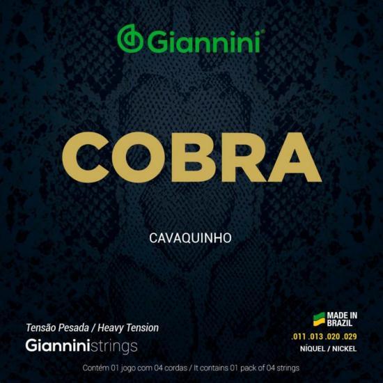 Encordoamento para Cavaco Aço Pesada GESCP Série Cobra GIANNINI (15108)