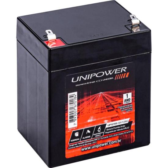 Bateria Selada UP1245 12V/4,5A UNIPOWER (21846)