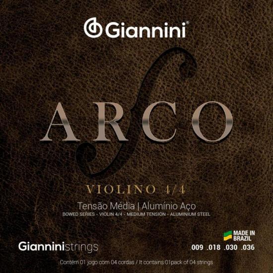 Encordoamento para Violino Médio Série Arco GEAVVA GIANNINI (22089)
