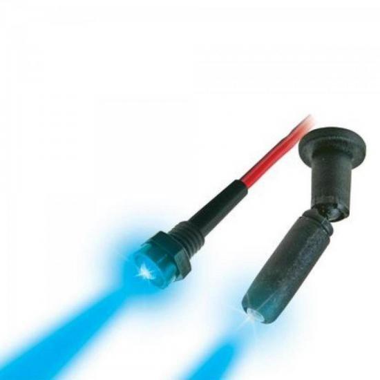 Mini Spot Neon 12V Azul com Rosca DNI (22530)