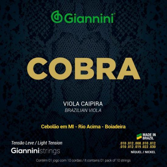 Encordoamento para Viola Aço Leve GESVNL Série Cobra GIANNINI (24347)