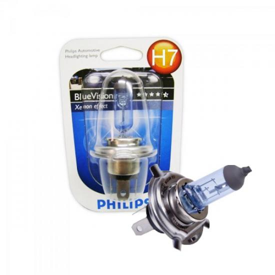Lâmpada para Farol Blue Vision Blister c/1 Lâmp. H7 12V 55W PHILIPS (27689)