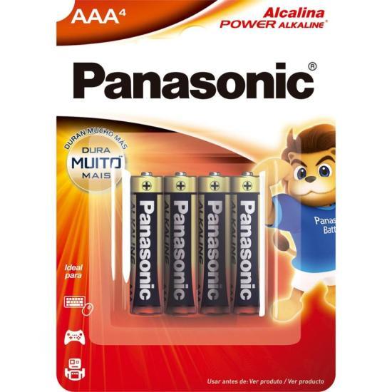 Pilha Alcalina AAA 1,5V LR03XAB/4B1 PANASONIC (Cartela com 4 Unid.) (31567)