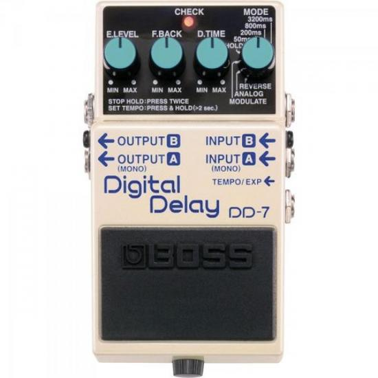 Pedal Digital Delay DD7 Branco BOSS (32173)