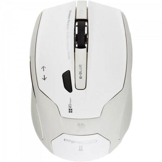 Mouse Laser Wireless 1480DPI USB ARCO2 Branco E-BLUE (37716)