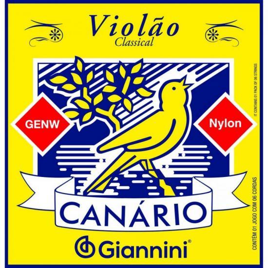 Encordoamento para Violão Nylon Médio GENW Canário GIANNINI (4536)