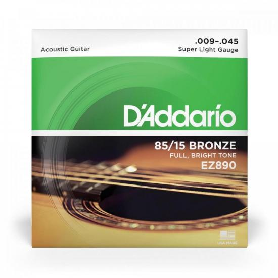 Encordoamento para Violão .009 Bronze D'ADDARIO (4588)