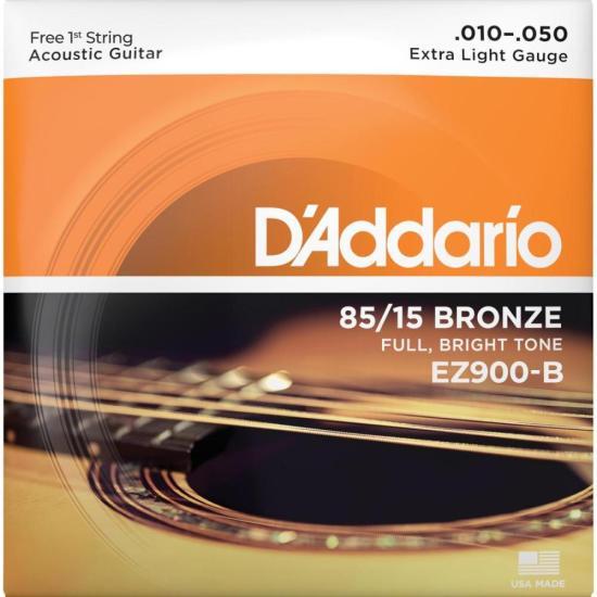 Encordoamento para Violão em Aço .010 Bronze D'ADDARIO (4589)