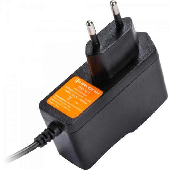 Fonte Chaveada 12VDC 1A 12W P4 C+ FCTP1201 Bivolt HAYONIK (46455)