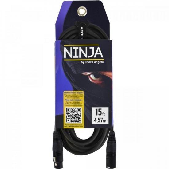 Cabo para Microfone Ninja 4,5 Metros XLR(M)-XLR(F) SANTO ANGELO