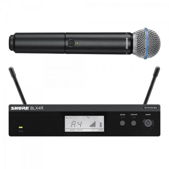 Sistema de Microfone Sem Fio BLX24RBR/BETA58 SHURE (52794)