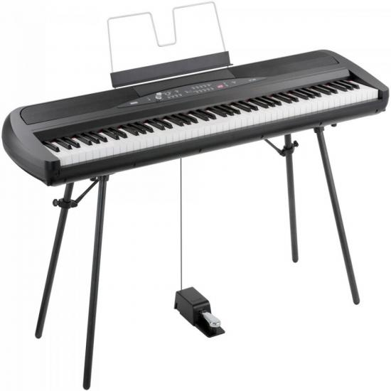 Piano Digital SP-280BK com Fonte Preto KORG (54315)