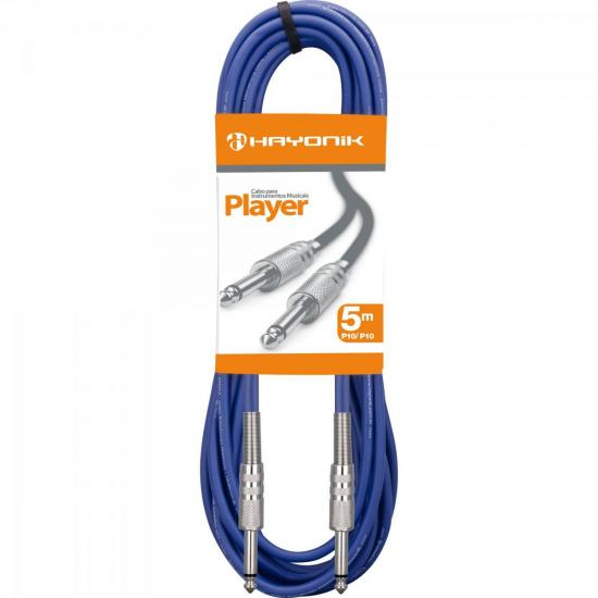 Cabo para Instrumentos P10 X P10 5m PLAYER Azul HAYONIK (54414)