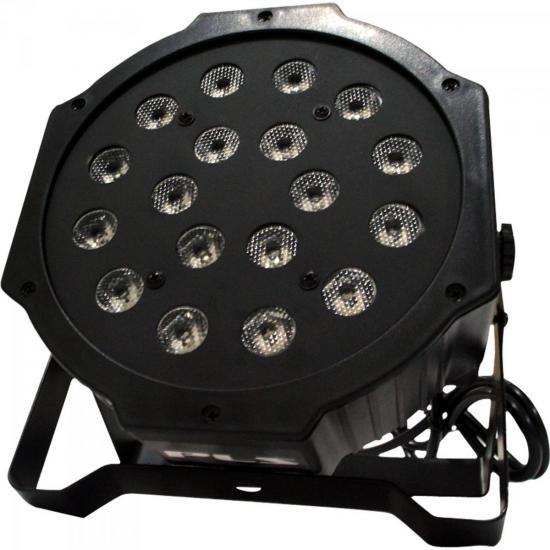 Refletor Ultra Light OCTOPUS com 18 Leds de 1W Bivolt RGB PLS (54596)