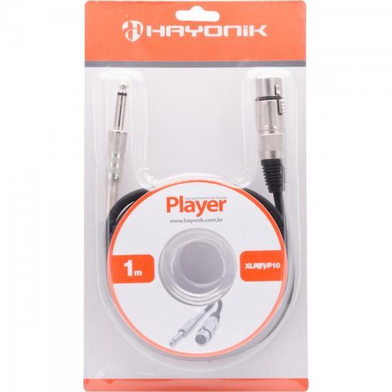 Cabo para Microfone XLR(F) X P10 1m PLAYER Preto HAYONIK (55068)