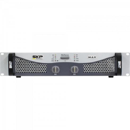 Amplificador Profissional Classe AB 700W MAX720 Cinza SKP (56147)