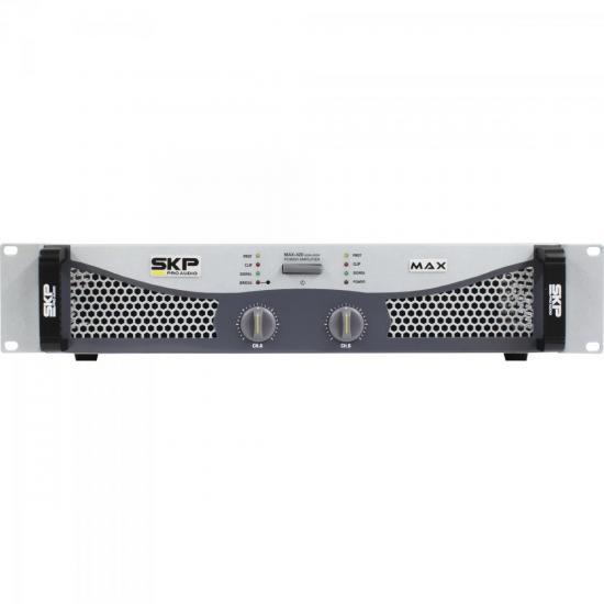 Amplificador Profissional Classe AB 400W MAX420 Cinza SKP (56149)