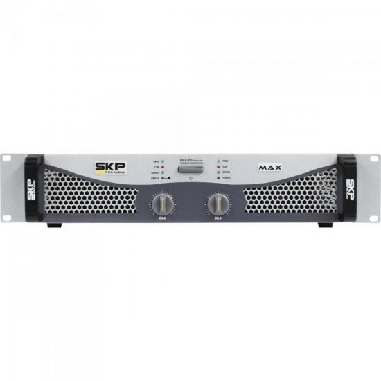 Amplificador Profissional Classe AB 300W MAX320 Cinza SKP (56150)