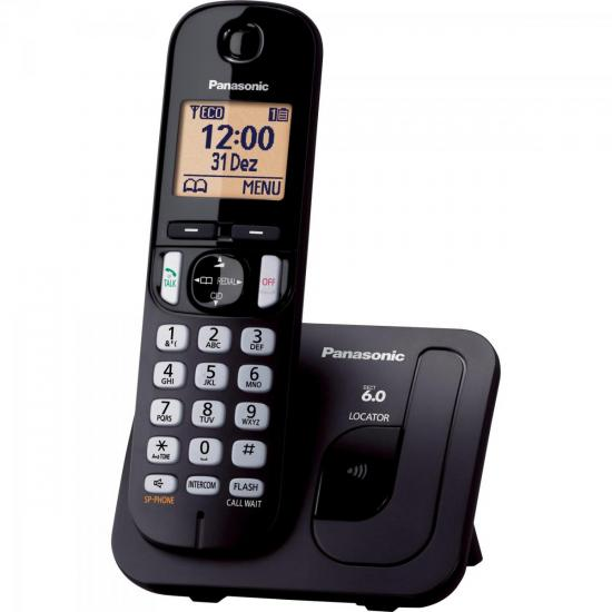 Telefone sem Fio com ID/Viva Voz KX-TGC210LBB Preto PANASONIC (56333)