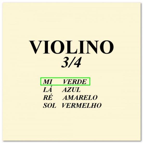 Corda p/ violino 3/4 MI CALIXTO (56581)