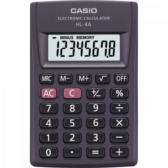Calculadora de Bolso 8 Dígitos HL-4A Preta CASIO (56740)