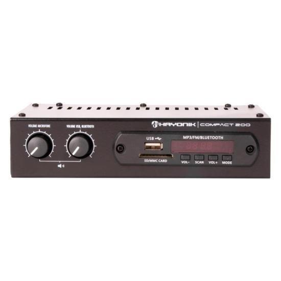 Amplificador 20W RMS com Bluetooth COMPACT 200 HAYONIK (57673)