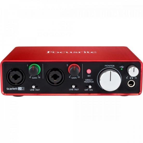 Interface de Áudio Scarlett 2i2 Vermelha FOCUSRITE (57697)