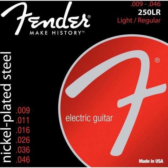 Encordoamento para Guitarra Aço .009 250LR Niquelado FENDER (57834)