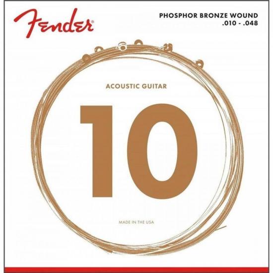 Encordoamento para Violão Aço .010 60XL Bronze Fosforoso FENDER (57844)
