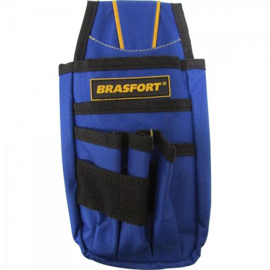 Pochete Para Ferramentas 6 BOLSOS Azul BRASFORT (58525)