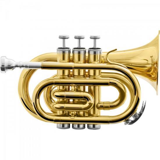 Trompete Pocket Bb HMT-500L Laqueado HARMONICS (58744)