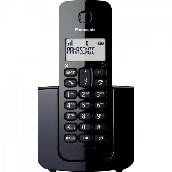 Telefone sem Fio com ID KX-TGB110LBB Preto PANASONIC (58781)
