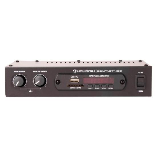 Amplificador 40W RMS com Bluetooth COMPACT 400 HAYONIK (58859)