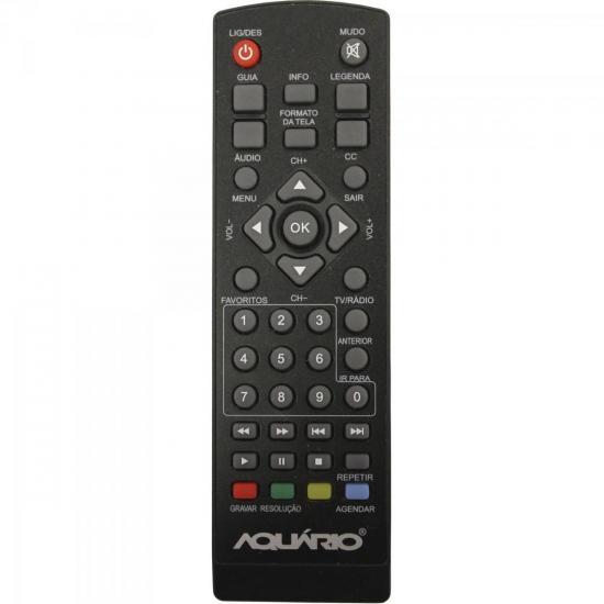 Controle Remoto Para Conversor Digital DTV-5000 Preto AQUARIO (59628)