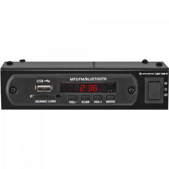Módulo Pré Amplificador C/ FM/USB/MP3/Bluetooth MP3 1000BT Preto HAYONIK (59929)