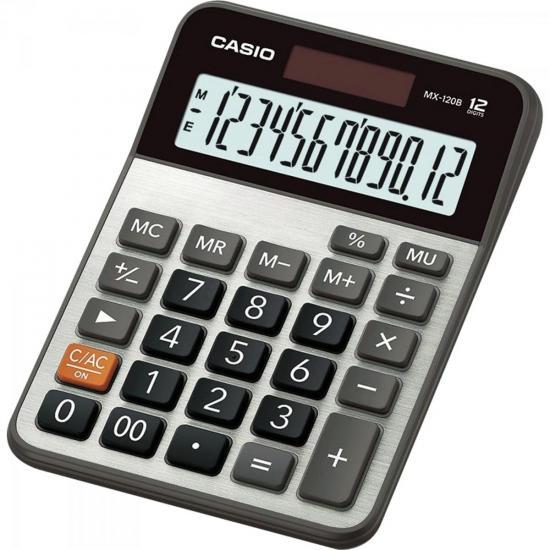 Calculadora de Mesa 12 Dígitos MX-120B Cinza CASIO (60338)