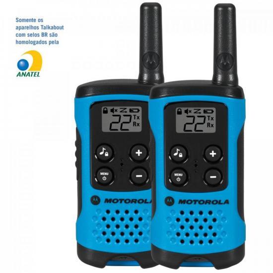 Rádio Comunicador Talkabout 25km T100BR Azul MOTOROLA (60485)