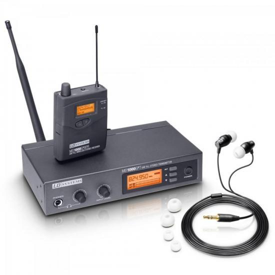 Sistema de Monitoramento sem Fio IN EAR MEI 1000 G2 Preto LD SYSTEMS (60522)