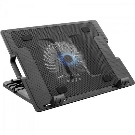 Suporte Para Notebook com Cooler Acoplado AC166 Preto MULTILASER (60899)