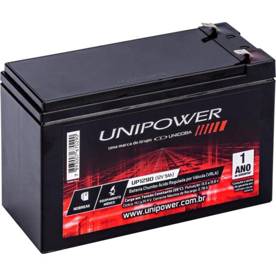 Bateria Selada 12V/9A UP1290 UNIPOWER (61404)