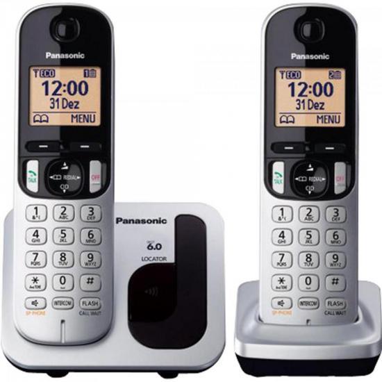 Telefone sem Fio com ID Base + Ramal KX-TGC212LB1 Cinza PANASONIC (61490)