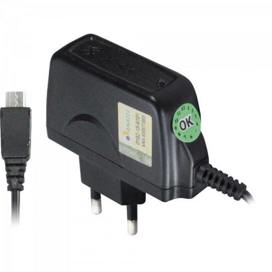 Carregador de Celular Micro USB Bivolt XC-CP-V8 Preto X-CELL (61621)