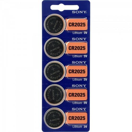Pilha Botão 3V Lítio CR2025 SONY (61638)