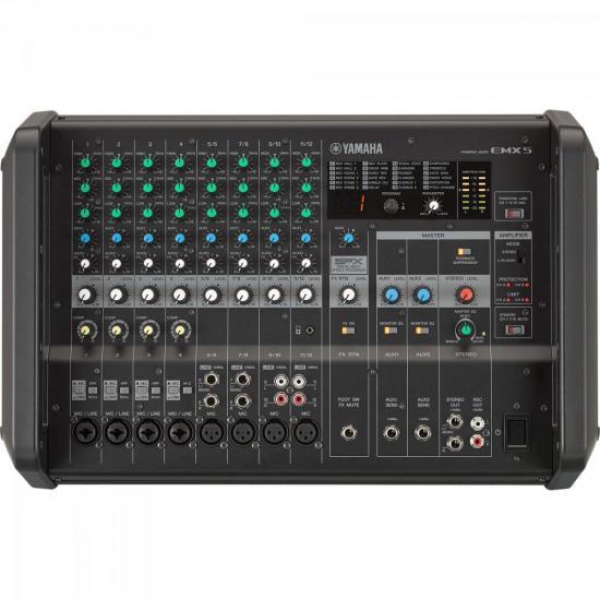 Mesa de Som Analógico Amplificado EMX5 Preto YAMAHA (61772)