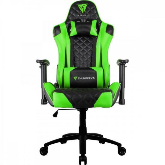 Cadeira Gamer Profissional TGC12 Preta/Verde THUNDERX3 (61903)