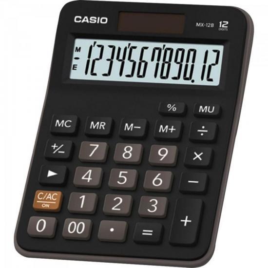 Calculadora de Mesa MX-12B Preta CASIO (61919)