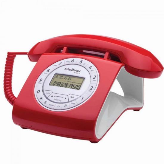 Telefone c/ fio RETRO TC8312 Vermelho INTELBRAS (61999)