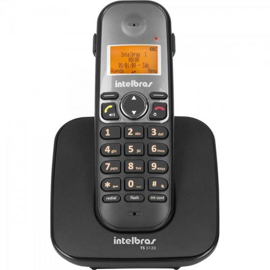 Telefone sem Fio com ID TS-5120 Preto INTELBRAS (62003)